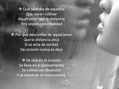 versos de amor a distancia 2 Imagenes con poemas de amor...