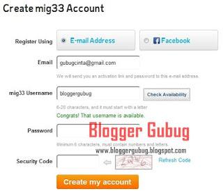 Registrasi mig33