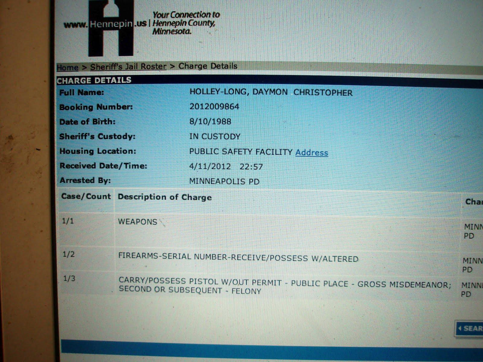Hennepin County Sheriffs Jail Roster