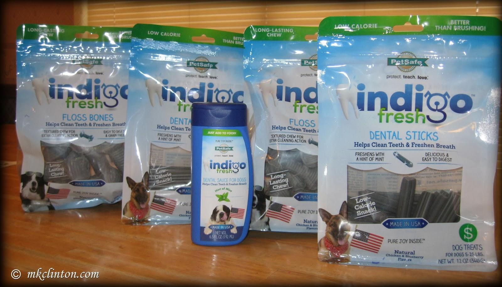 Indigo dog dental treats by PetSafe