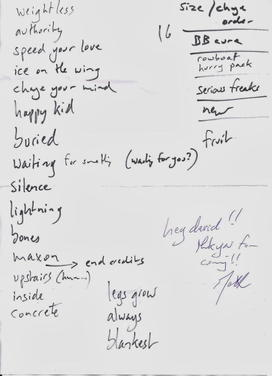 David Rose\'s Gig Diaries: 906 MATTHEW CAWS, Monument Valley, Kafka ...