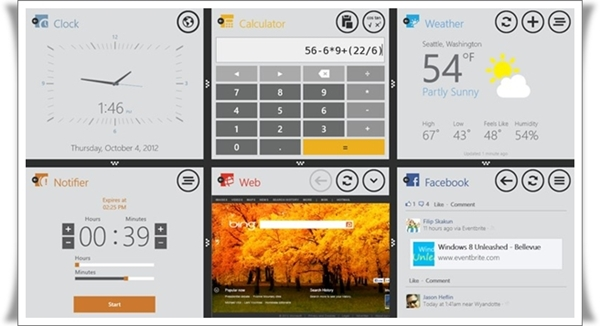 Tampilan aplikasi Toolbox untuk Windows 8