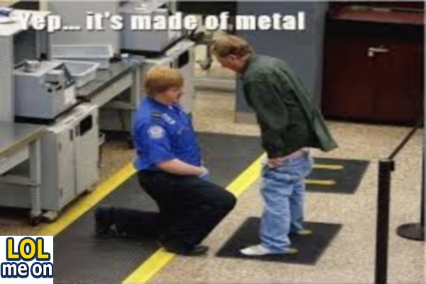 It's Made Of Metal - Funny Picture With Caption  Funny pictures