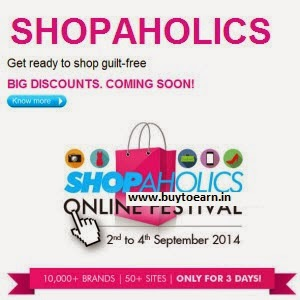 Axis Bank Shopaholics online Festival : Get Huge discount on Shopping, Recharge, Travel & Food