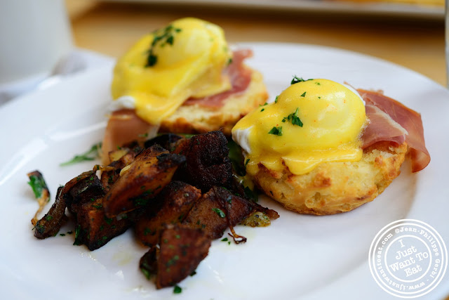 Image of Eggs Benedict at Market Table in the West Village - NYC, New York