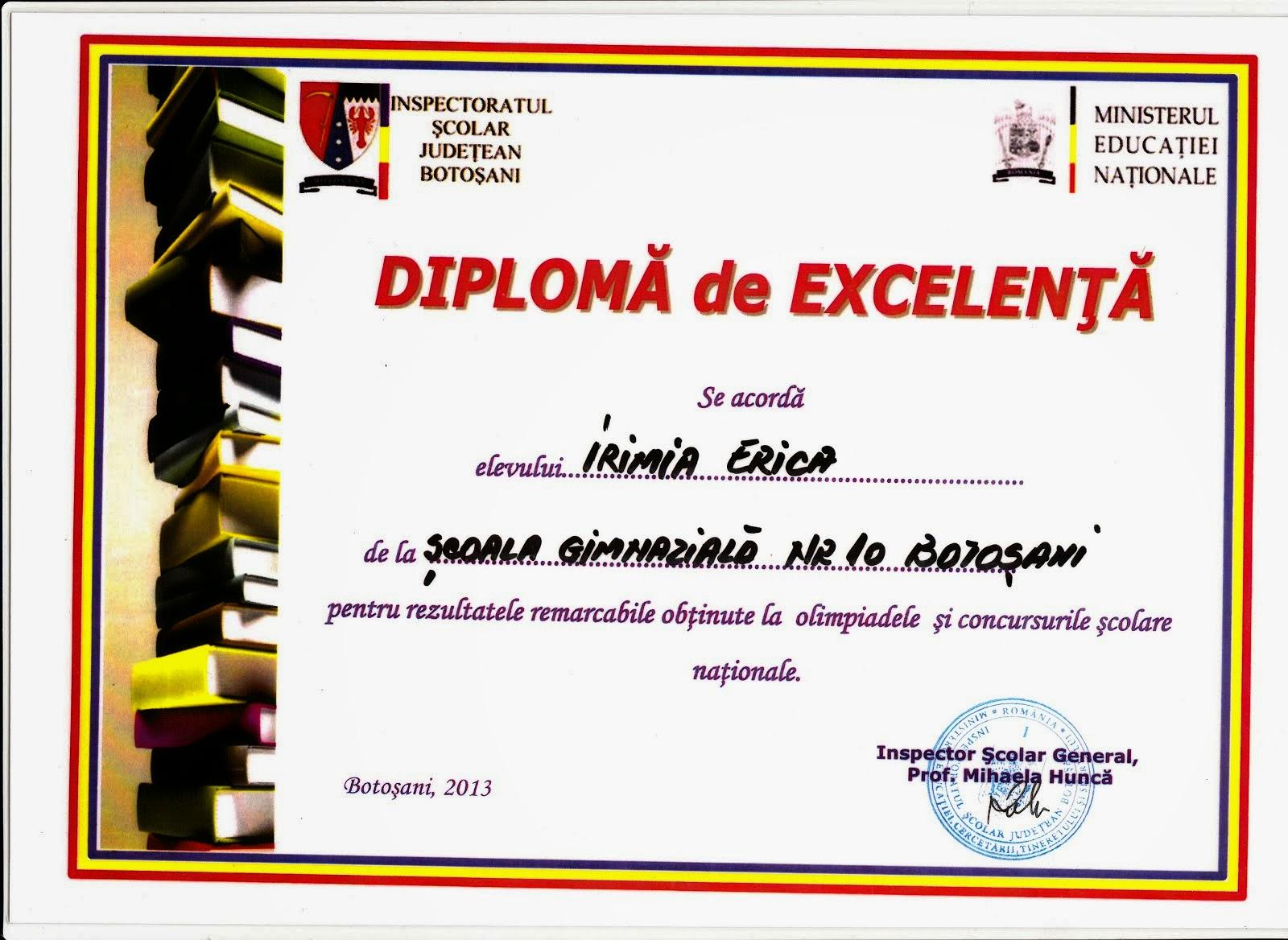 diploma Erica