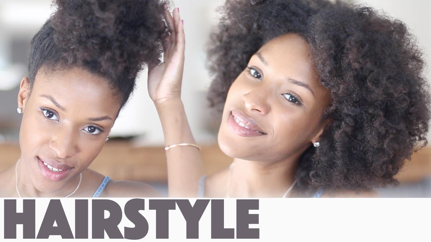 Coiffure simple cheveux crépus ou bouclés
