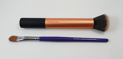 Real Techniques Buffing brush and Quo Definer Shadow brush