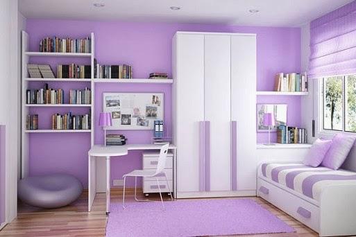 kamar tidur anak ungu