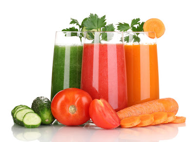 Juices against stress low fat