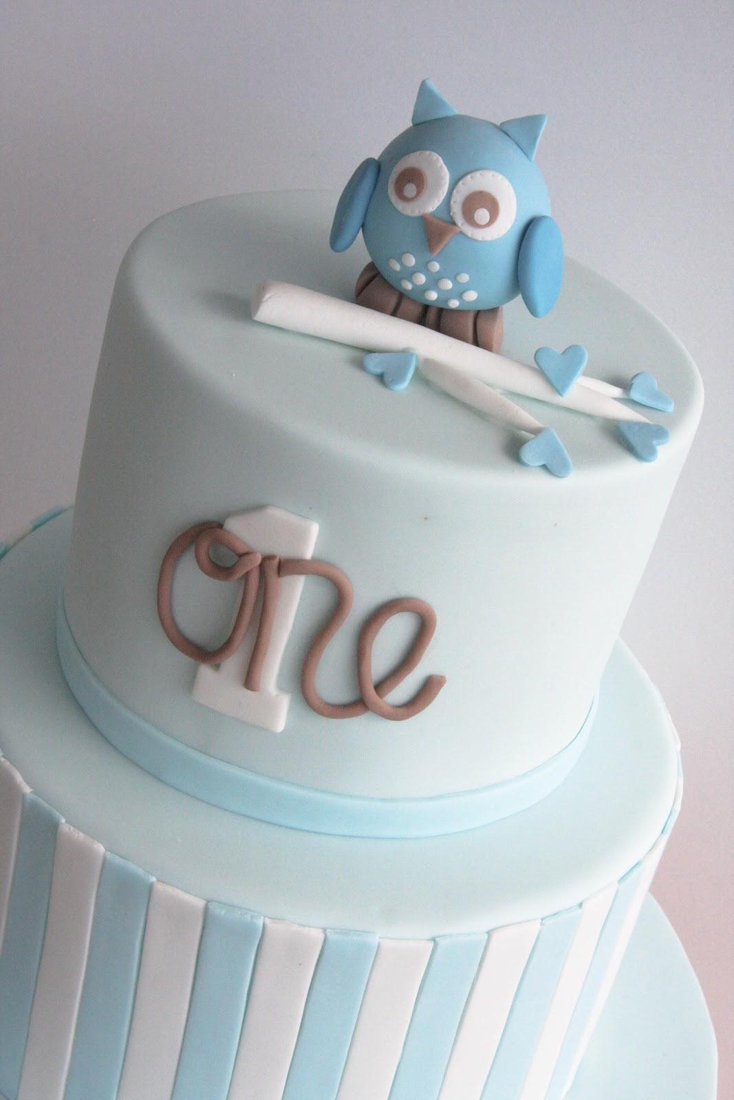 Studio Cake Owl First Birthday Cake And Cupcakes
