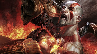 Game Character Kratos Wallpaper 1366x768