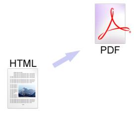 HTML webpage to PDF