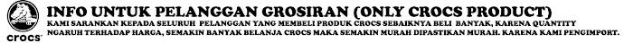 GROSIR PRODUK CROCS DI JAMIN MURAH
