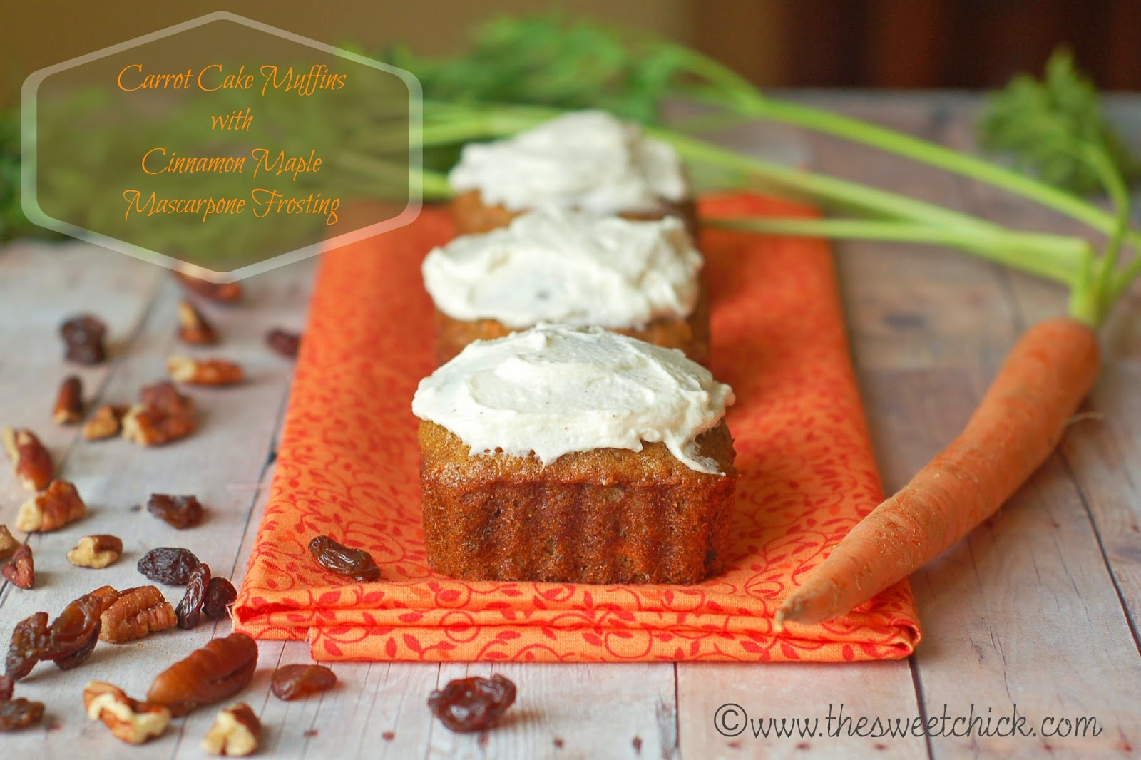 Carrot Cake Muffins by The Sweet Chick