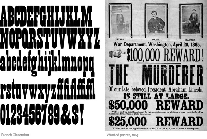 KaraKreative Typeface Review Clarendon – Wanted Poster Letters