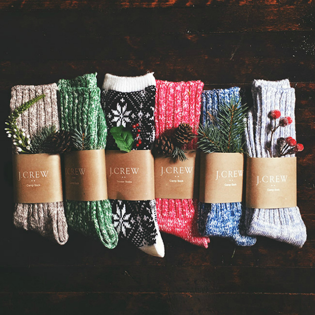 J.Crew Christmas socks