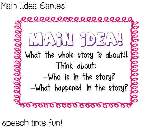 Invaluable image regarding printable main idea games