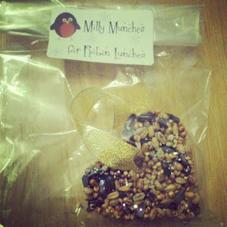 Home made bird seed feeders