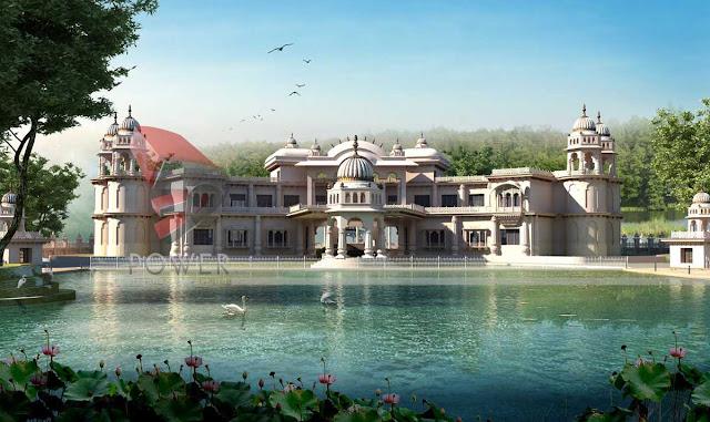 3D Architectural Exterior View,3d architecture design