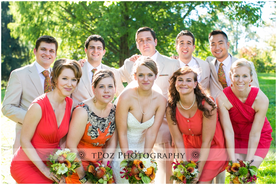 Maryland Zoo Wedding Baltimore bridal party