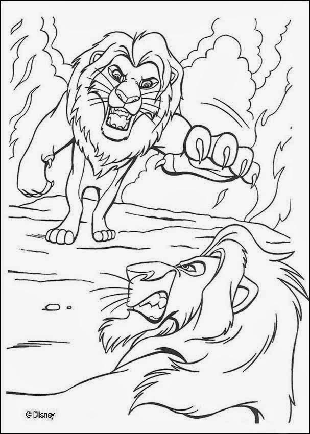 Dibujos para colorear. Maestra de Infantil y Primaria.: El Rey León ...