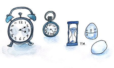 Alarm clock by Yukié Matsushita