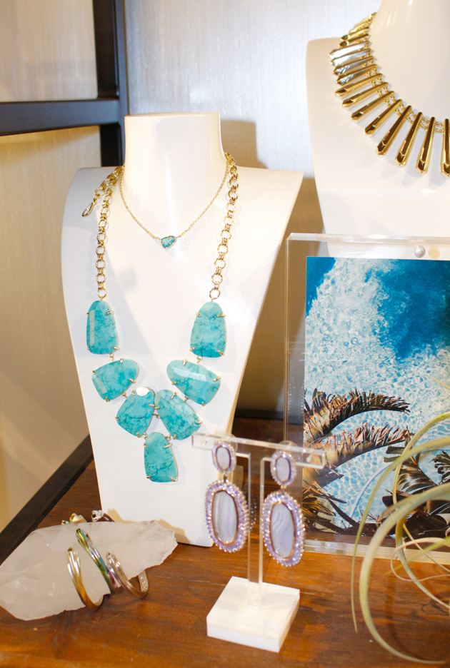 Turquoise necklaces, Kendra Scott showroom