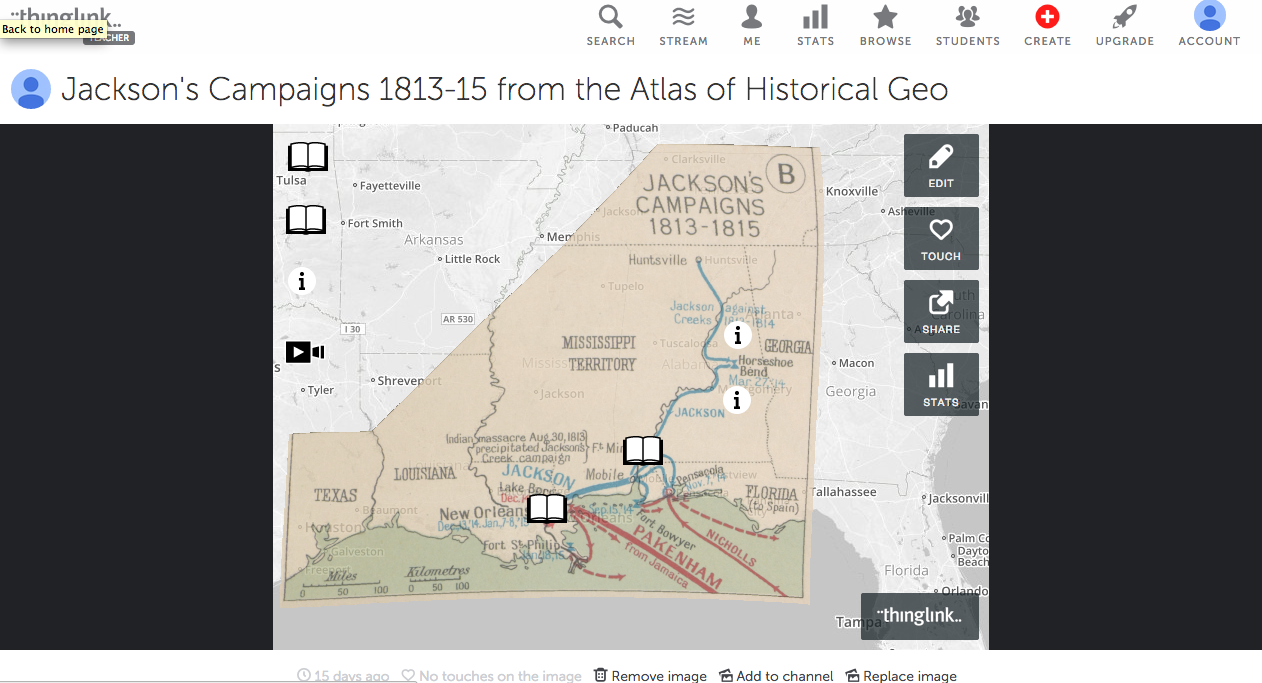 as you can see from the map above i have added different types of websites with overviews videos of the war of 1812 and primary documents