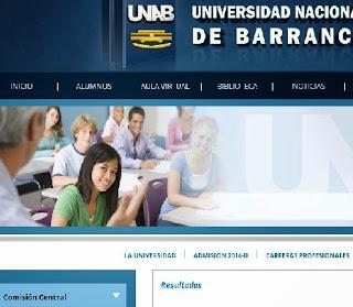 Resultados ingresantes Universidad de Barranca UNAB 2014 II 28 de Setiembre