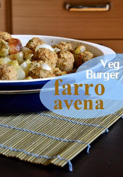 polpette vegetali con cipolline al forno