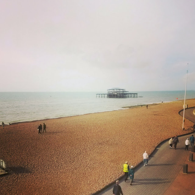Brighton beach, early Thursday morning, UK