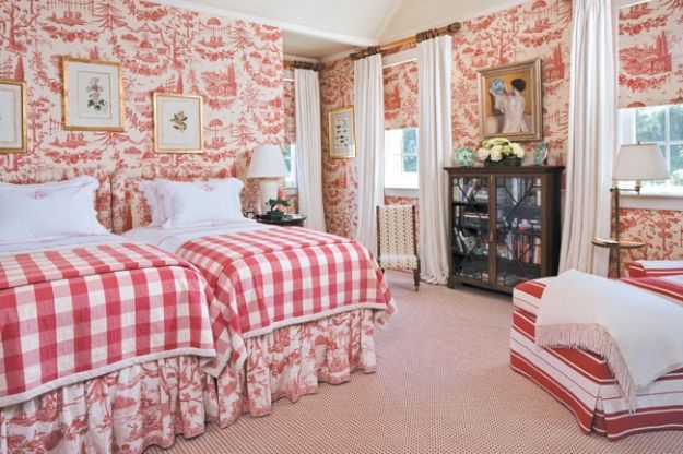 Decorating Bedrooms With Green Toile: Eye For Design: Decorating With Red Toile
