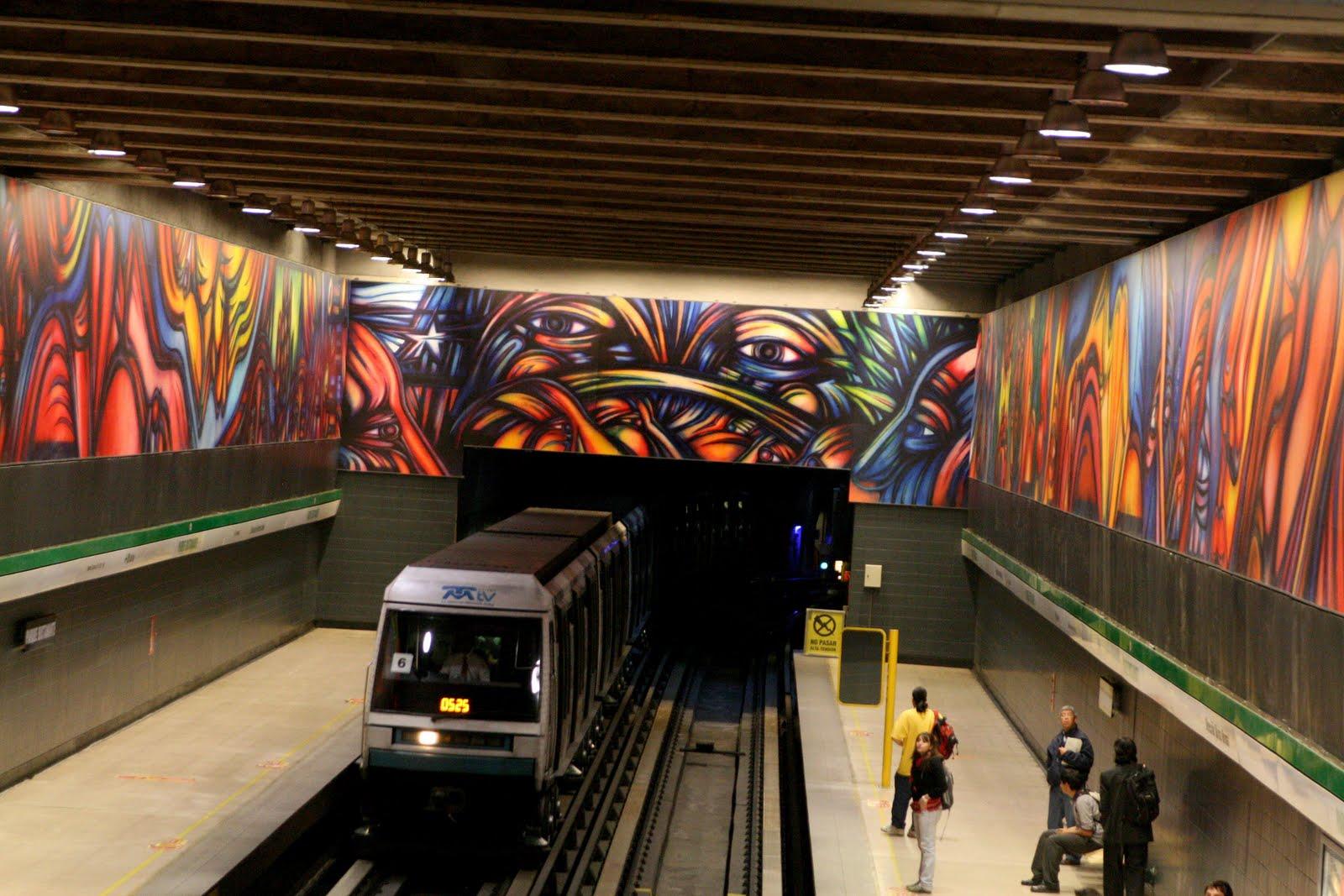 Mono gonz lez october 2011 for Mural metro u de chile