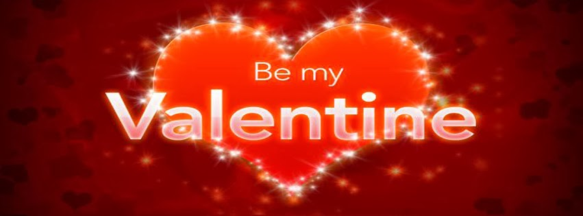 Be My Valentine With Heart An Stars Facebook Profile Timeline Cover