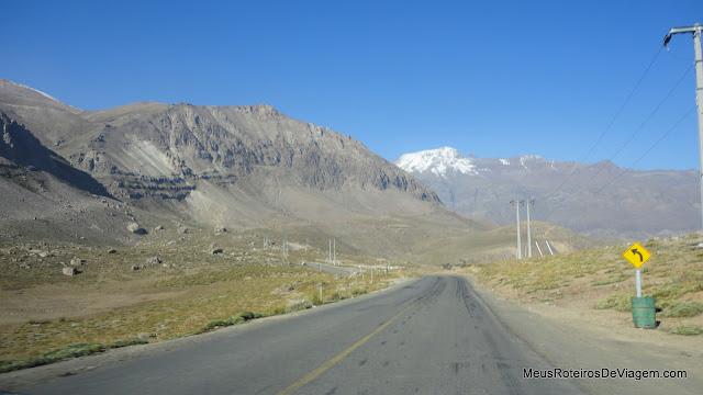 A caminho do Valle Nevado