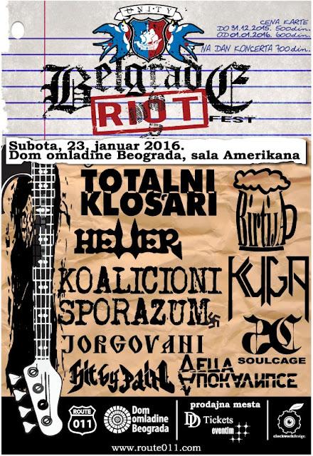 "Devet domaćih bendova na ""Belgrade Riot Festu"""