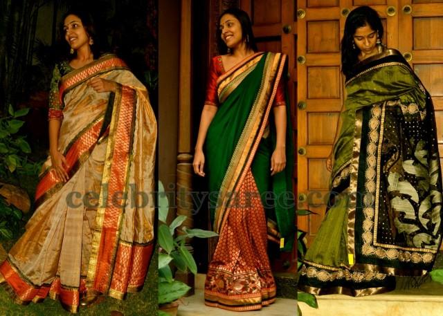 Bailu Silk and Chiffon Sarees