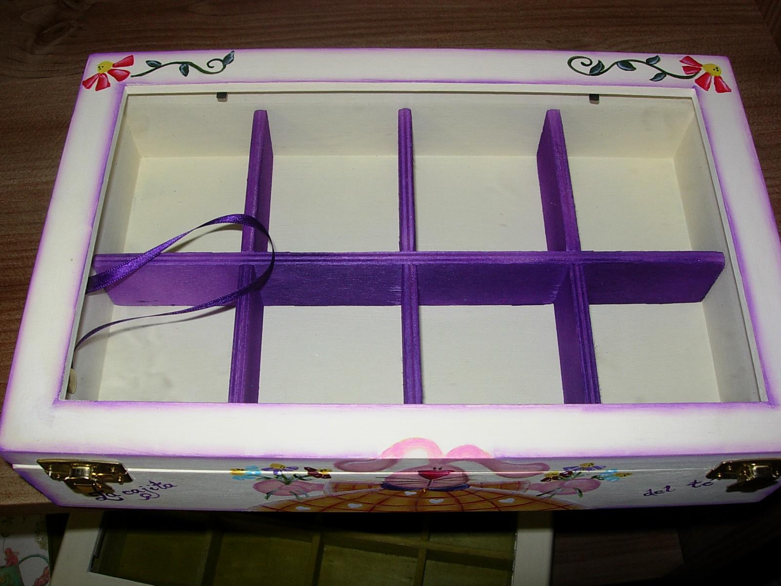Artesania abona cajas de t pintadas a mano - Baules pintados a mano ...
