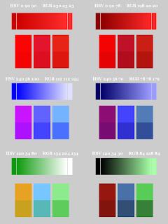 Color Pattern; Small Blocks on Bottom; Mode Hard Light