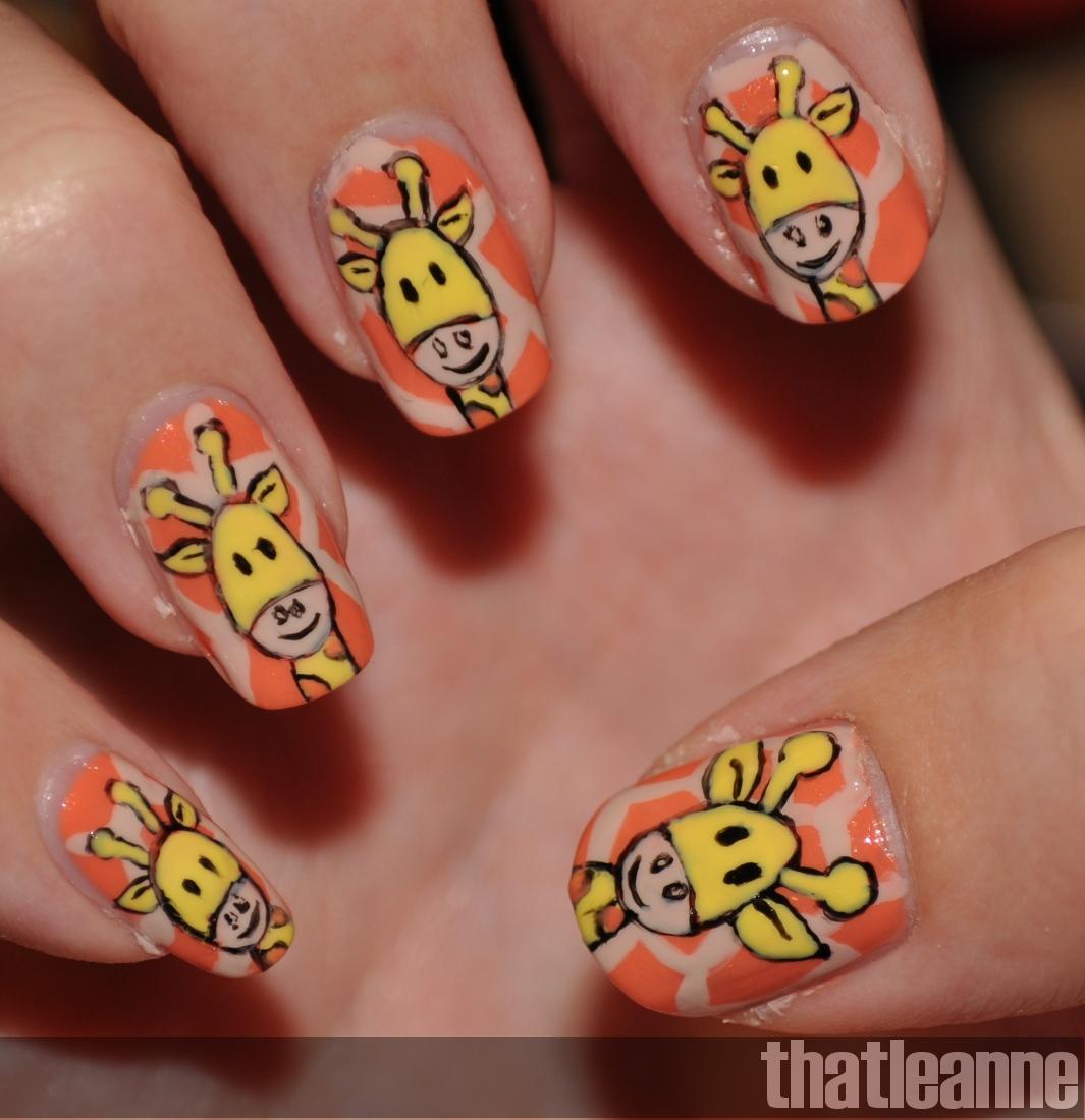 Thatleanne Chococat Nail Art: Thatleanne: Giraffe Nail Art Tutorial/How To