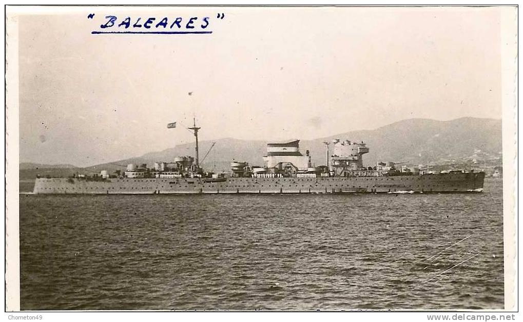 Le croiseur lourd baléares qui seront coulé le 6 mai 1938. le