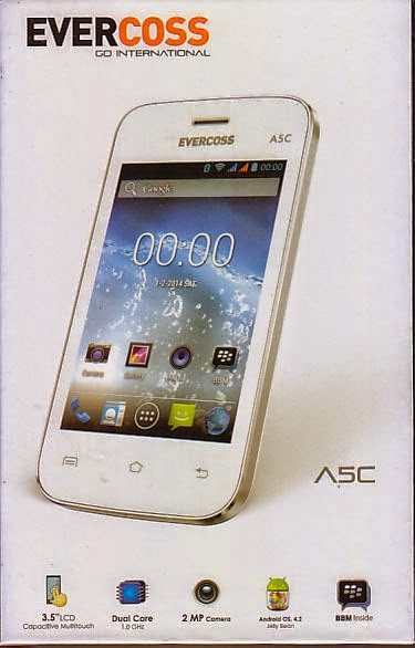 Evercoss A5C, Smartphone Android Dual Core 500 Ribuan