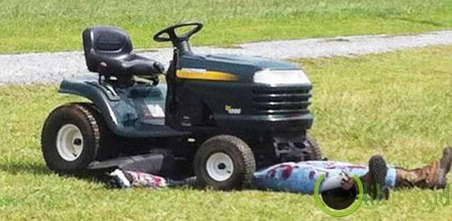 Terbunuh Mesin Pemotong Rumput