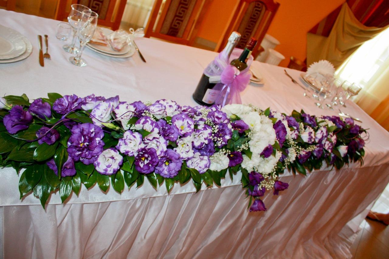 Как сделать цветы на свадебный стол