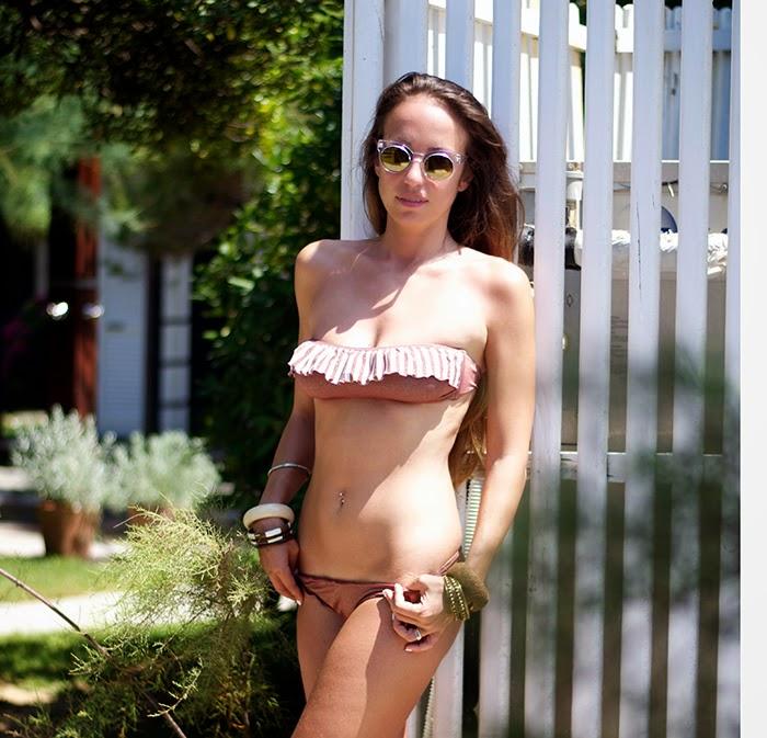 glittery brown bikini