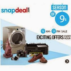 Snapdeal Exciting Offers Every Hour [9AM – 9PM]