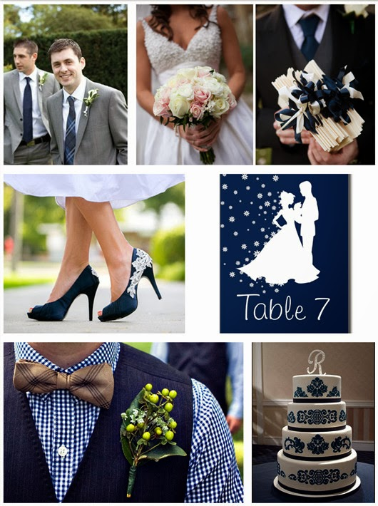 navy blue wedding ideas favors