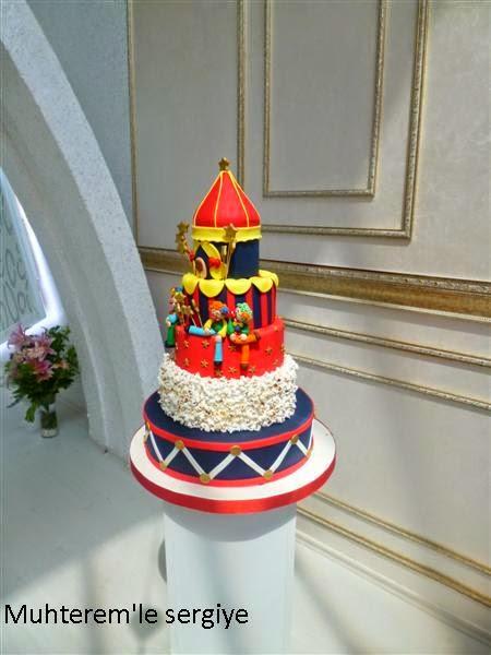 çocuk doğum günü için tasarım pasta