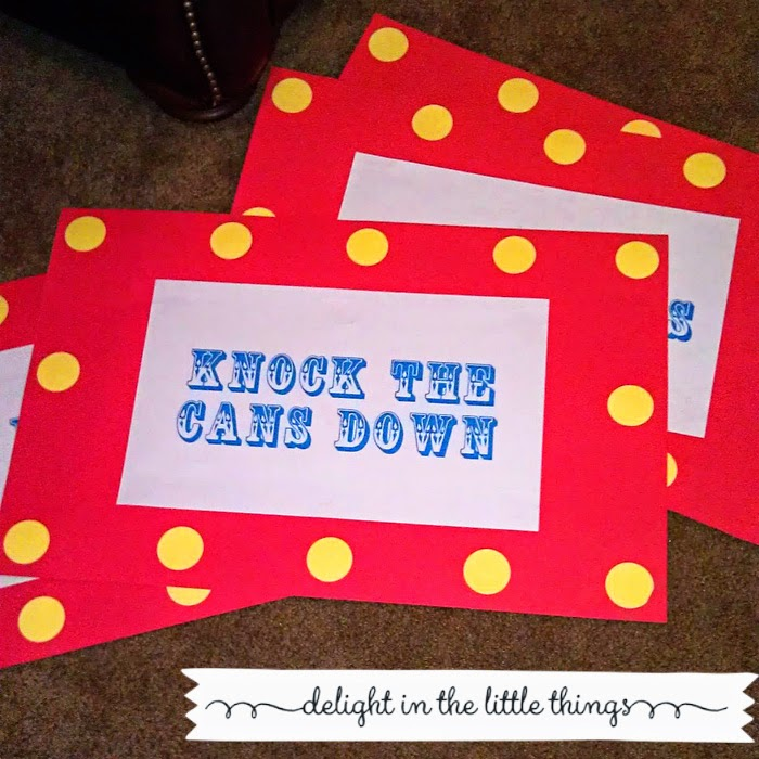DIY Carnival Circus Birthday Party Signs | delight in the little things
